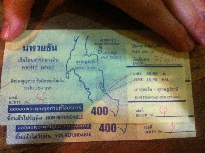 Nachtfähre Koh Phangan nach Surat Thani