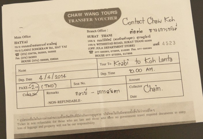 Ticket Koh Lanta