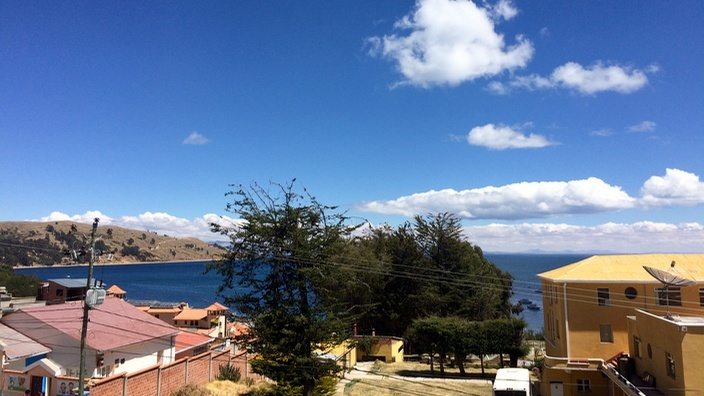 Bolivien Ausblick Hotel Wendy Mar Copacabana
