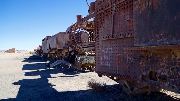 Bolivien Zugfriedhof Uyuni