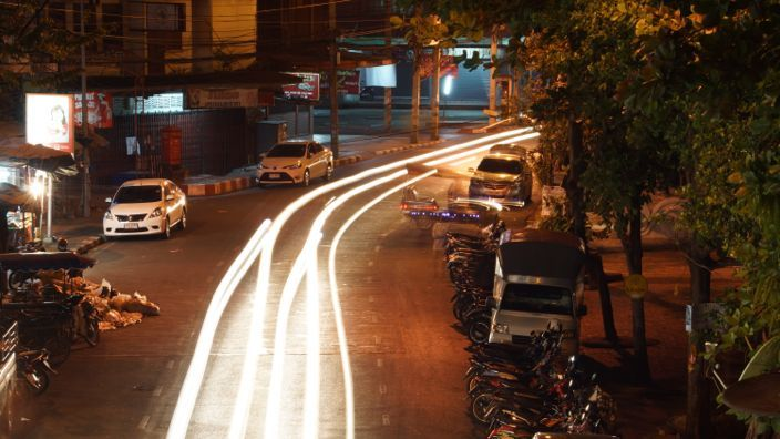 Chiang Mai Streets at Night