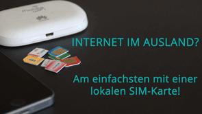 Internet im Ausland - Übersicht ausländische SIM-Karten