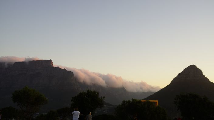 Cape Town Sunset Clouds Table Mountain
