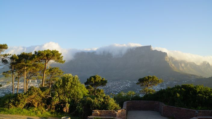 Cape Town Table Mountain Cloudy