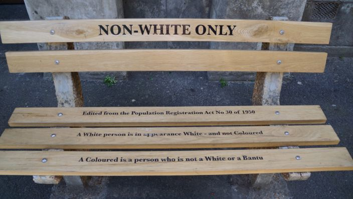 Cape Town Bench Non-Whites only
