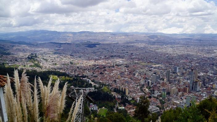 Ausblick vom Monserrate, Bogotá