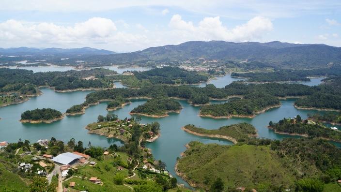 Blick von La Piedra, Guatapé Kolumbien