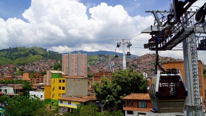 Cablemetro in Medellin, Kolumbien