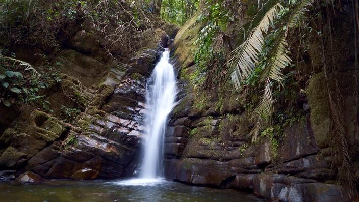 Ausritt mit Oscar Julian in Salento, Wasserfall