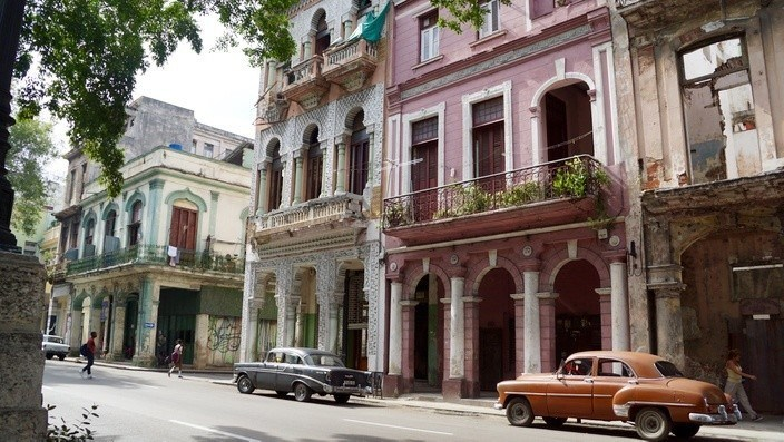 Hausfassade in Havanna, Kuba