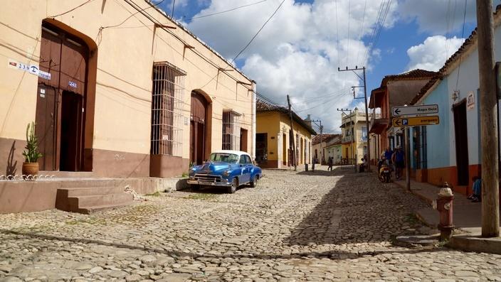 Gasse in Trinidad, Kuba