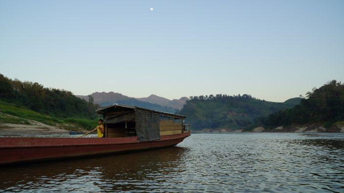 Laos Mekong Boat