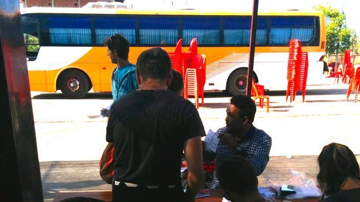 Laos to Cambodia Bus Terminal