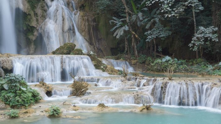 Laos Kuangsi Waterfall Luang Prabang