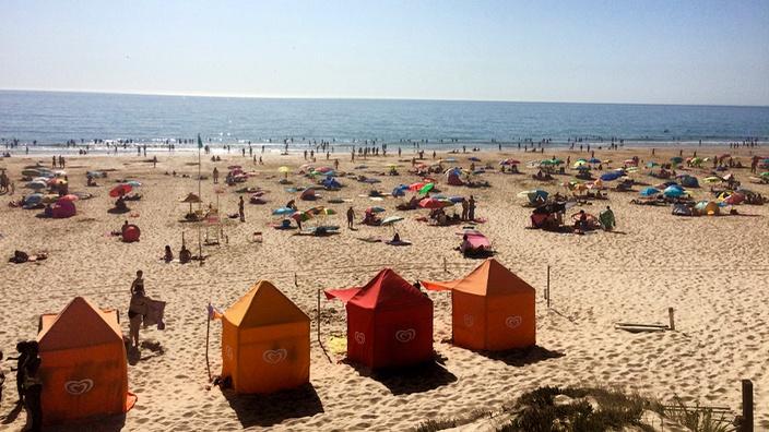 Fonte da Telha Strand, nahe Lissabon
