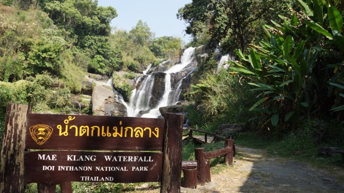 Inthanon Nationalpark Mae Klang Waterfall
