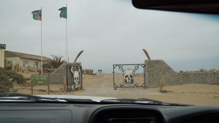 Namibia Skeleton Coast Park Entrance