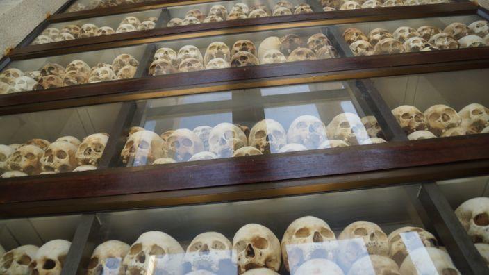 Skulls Killing Fields Phnom Penh Cambodia