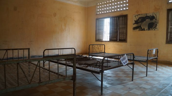 Cell S-21 Museum Tuol Sleng Phnom Penh Cambodia