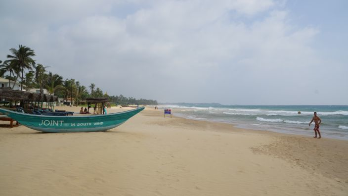 Sri Lanka Narigama Beach Joint in South Wind